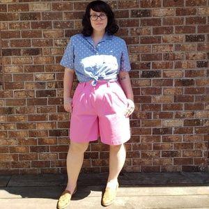 Bubblegum Pink 90's Shorts - Size 10/12